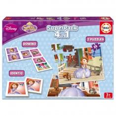 Superpack Princesse Sofia : Memory, puzzles et Dominos