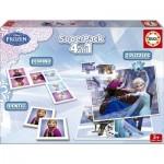 Superpack La Reine des Neiges (Frozen) : Memory, puzzles et Dominos