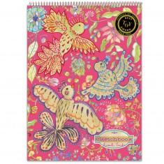 Bloc de papier à dessin : Oiseaux d'or