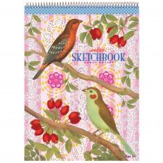 Bloc de papier à dessin : Oiseaux et baies