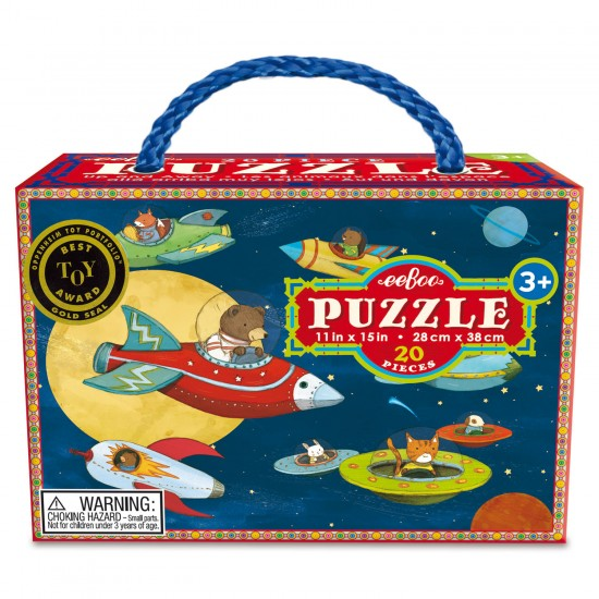 Puzzle 20 pièces : Monter et Partir - Eeboo-9650434