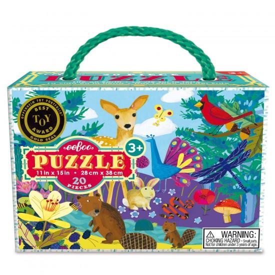 Puzzle 20 pièces : Vie sur Terre - Eeboo-9650433