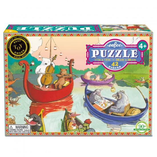 Puzzle 42 pièces : Fête sur le lac - Eeboo-9650435