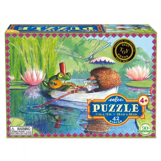 Puzzle 42 pièces : Promenade en barque - Eeboo-9650437