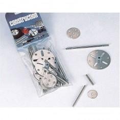 Set complémentaire pour construction mécanique : Disques et axes en métal