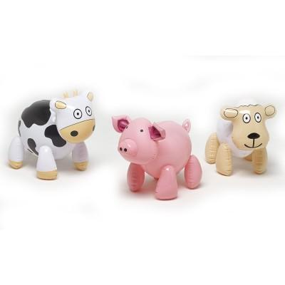 ensemble 3 animaux de la ferme gonflables falk falquet magasin de jouets pour enfants. Black Bedroom Furniture Sets. Home Design Ideas