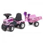 Porteur tracteur Baby Princess Trac + Remorque + pelle et râteau