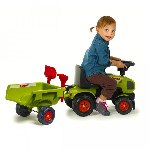Porteur tracteur claas axos remorque pelle et r teau jeux et jouets falk falquet - Tracteur remorque enfant ...