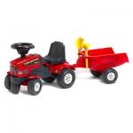 Porteur tracteur Farm Mustang 350S + Remorque + pelle et râteau : Rouge