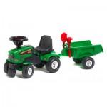 Porteur tracteur Farm Mustang 350S + Remorque + pelle et râteau : Vert