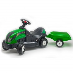 Porteur Tracteur Landtrac vert + Remorque