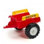 Remorque de tracteur Farm rouge