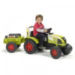 Tracteur à pédales avec remorque Claas Arion 540