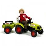 Tracteur à pédales avec remorque Claas Arion 430