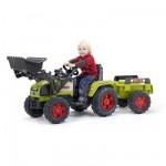Tracteur à pédales Claas Ares 696 RZ avec pelle et remorque