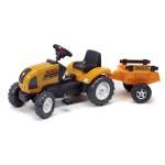 Tracteur à pédales Renault Ares 886RX et Remorque 1090