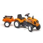 Tracteur à pédales Renault Celtis 436RX et remorque