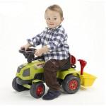 Tracteur Baby Claas Axos + Remorque et accessoires (sans pédales)
