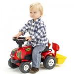 Tracteur rouge Baby Power Master + Remorque et accessoires (sans pédales)