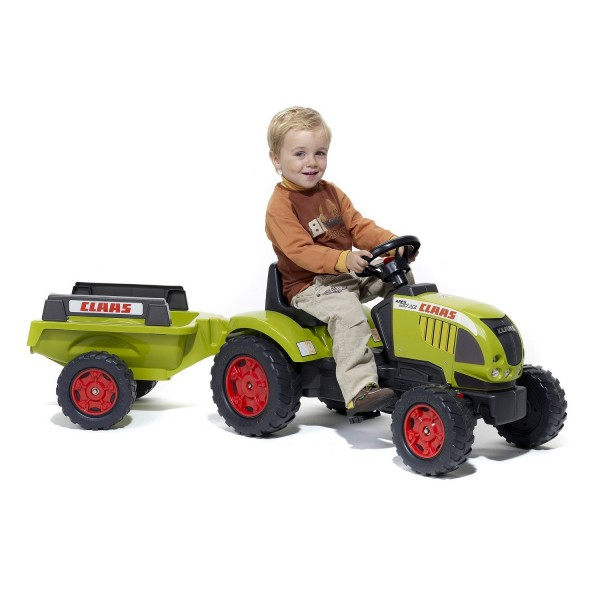 Tracteur Claas Ares 657 ATZ à pédales + Remorque - Falk-992B