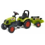 Tracteur Claas Arion 410 + arceau + remorque