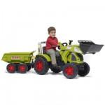 Tracteur  Tractopelle à pédales Claas Ares 697 ATZ + Remorque