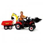 Tracteur  Tractopelle Case IH à pédales + Excavatrice + Remorque 940