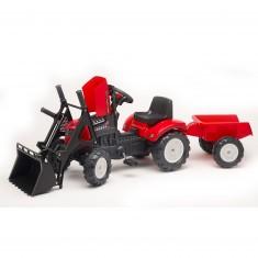 Tractopelle Falk Lander Z160X + Remorque rouge