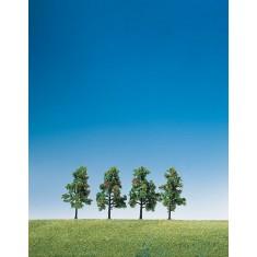 Modélisme : Végétation : 4 arbres à feuilles et fruitiers