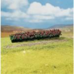 Modélisme : Végétation : Arbres Premium : 3 haies aux fleurs rouges