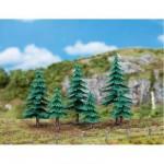 Modélisme accessoires de décor : Végétation : Arbres : 3 petits et 3 grands sapins