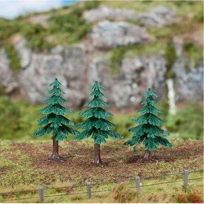 Modélisme accessoires de décor : Végétation : Arbres : 3 sapins - Faller-181602