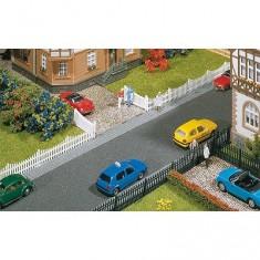 Modélisme HO : Accessoires de décor : Clôture de jardin avec portes