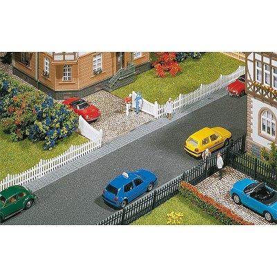 Modélisme HO : Accessoires de décor : Clôture de jardin avec portes - Faller-180410