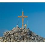 Modélisme HO : Accessoires de décor : Croix de sommet avec pic de montagne