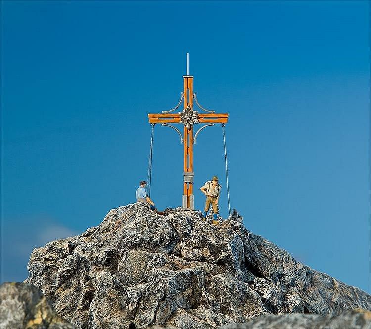 Modélisme HO : Accessoires de décor : Croix de sommet avec pic de montagne - Faller-180547