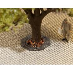 Modélisme HO : Éléments d'aménagement de ville : Grilles de protection d'arbres