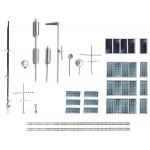 Modélisme HO : Accessoires de décor : Lot d'aménagement de toits