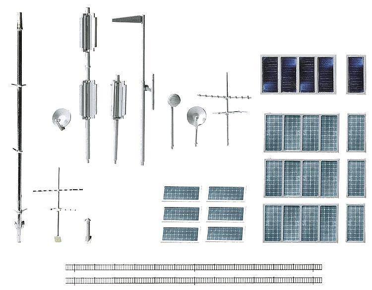 Modélisme HO : Accessoires de décor : Lot d'aménagement de toits - Faller-180544