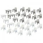 Modélisme HO : Accessoires de décor : Tables et chaises de jardin