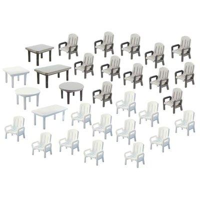 Modélisme HO : Accessoires de décor : Tables et chaises de jardin - Faller-180439