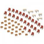 Modélisme HO : Accessoires de décor : Tables et chaises
