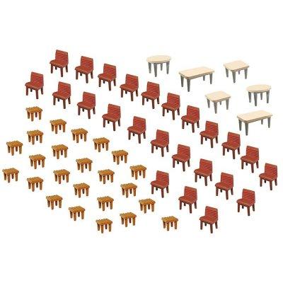 Modélisme HO : Accessoires de décor : Tables et chaises - Faller-180438