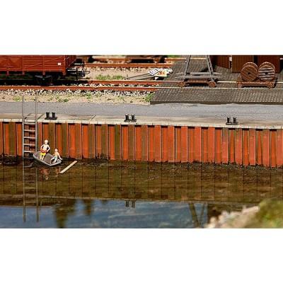 Modélisme HO : Accessoires de décor : Mur de quai - Faller-131012