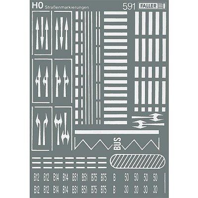 Modélisme HO : Accessoires de décor : Signalisation routière - Faller-180536