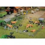 Modélisme HO : Accessoires de décor : Systèmes de clôture pour stalles et ferme de stabulation libre