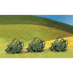 Modélisme : Végétation : 3 buissons Premium