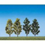 Modélisme : Végétation : 2 bouleaux et 2 peupliers