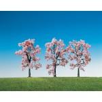 Modélisme : Végétation : 3 cerisiers en fleurs
