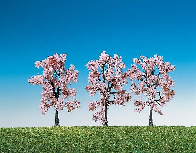 Modélisme : Végétation : 3 cerisiers en fleurs - Faller-181406